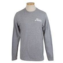 Hobie Script Grey Long Sleeve TShirt